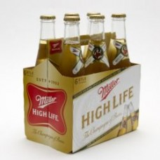 Miller High Life American Lager Beer pack of 6 (12 oz) bottles