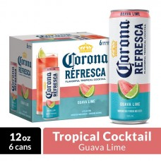 Corona Refresca Guava Lime Spiked Tropical Cocktail Pack of 6 (12 oz) cans