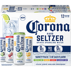 Corona Hard Seltzer Spiked Sparkling Water Variety Pack of 12 (12 oz) canes