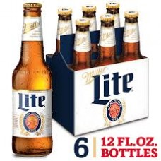 Miller Lite Lager Beer pack of 6 (12 oz) bottles