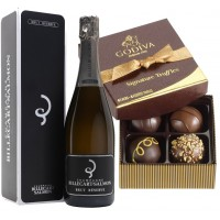 Billecart-Salmon Brut Reserve & Signature Chocolate Truffles 4 pc Gift Box