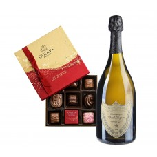 Dom Pérignon & Dark Chocolate Assortment Gift Box 9 pc.