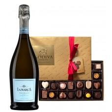 Lamarca Prosecco & Godiva 26 Pc Assorted Chocolates