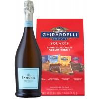 Lamarca Prosecco & Ghirardelli Squares Premium Chocolate Assortment