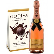 Moët & Chandon Nectar Impérial Rosé Champagne with Godiva Chocolates