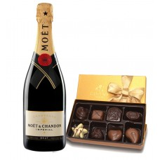 Moët & Chandon Impérial Brut Champagne and Godiva 8 Pc Chocolates