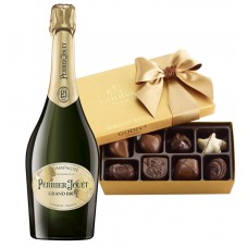 Perrier-Jouet Grand Brut Champagne & Godiva Chocolates Gift Box