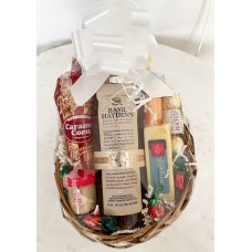 Basil Haydens and Cheese Gift Basket