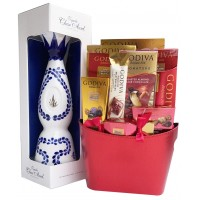 Clase Azul Reposado Tequila and Godiva Gift Basket