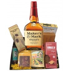 Makers mark and Cheese Gift Basket