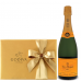 Veuve Clicquot Champagne and Godiva 8 Pc Chocolates