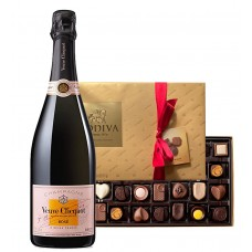 Veuve Clicquot Rose & Godiva Chocolates Gift Set