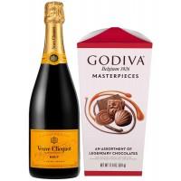 Veuve Clicquot Champagne and Godiva Chocolates