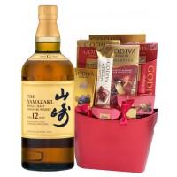 Yamazaki 12 Year with Godiva Gift Basket