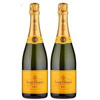 Veuve Clicquot Brut Yellow Label Champagne Pack of 2