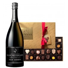 Billecart-Salmon Brut Reserve & Godiva Chocolates Gift Box