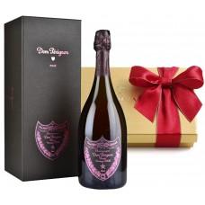 Dom Pérignon Rose with Godiva Chocolates Gift Set