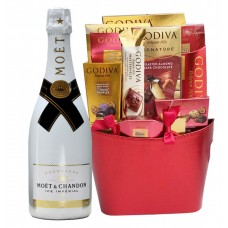 Moet & Chandon Ice Imperial with Godiva Gift Basket