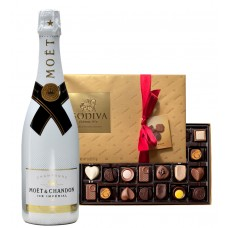 Moet & Chandon Ice Impérial Champagne & Godiva Chocolates Gift Box