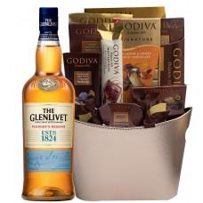 The Glenlivet Founder's Reserve with Godiva Chocolates Basket